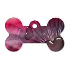 Love Hearth Background Wallpaper Dog Tag Bone (two Sides)
