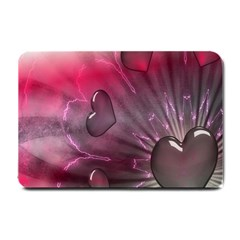 Love Hearth Background Wallpaper Small Doormat