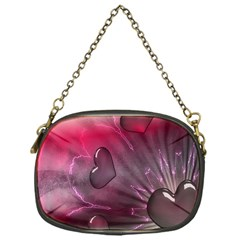 Love Hearth Background Wallpaper Chain Purses (one Side)