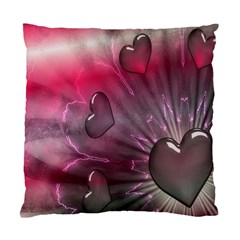 Love Hearth Background Wallpaper Standard Cushion Case (one Side)