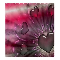 Love Hearth Background Wallpaper Shower Curtain 66  x 72  (Large)