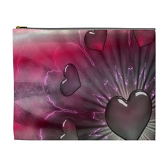 Love Hearth Background Wallpaper Cosmetic Bag (xl)