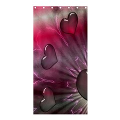 Love Hearth Background Wallpaper Shower Curtain 36  X 72  (stall)
