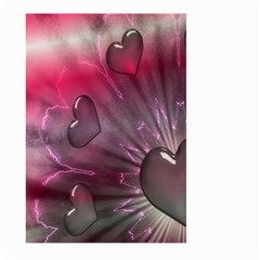 Love Hearth Background Wallpaper Large Garden Flag (Two Sides)