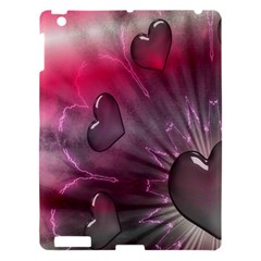 Love Hearth Background Wallpaper Apple iPad 3/4 Hardshell Case