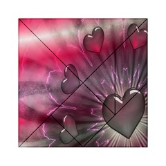 Love Hearth Background Wallpaper Acrylic Tangram Puzzle (6  x 6 )