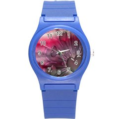 Love Hearth Background Wallpaper Round Plastic Sport Watch (s)