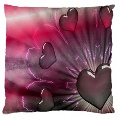 Love Hearth Background Wallpaper Large Cushion Case (Two Sides)