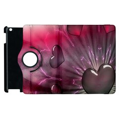 Love Hearth Background Wallpaper Apple iPad 3/4 Flip 360 Case
