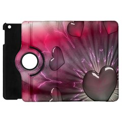 Love Hearth Background Wallpaper Apple iPad Mini Flip 360 Case