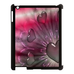 Love Hearth Background Wallpaper Apple iPad 3/4 Case (Black)