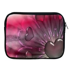 Love Hearth Background Wallpaper Apple iPad 2/3/4 Zipper Cases