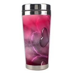 Love Hearth Background Wallpaper Stainless Steel Travel Tumblers