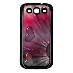Love Hearth Background Wallpaper Samsung Galaxy S3 Back Case (Black)