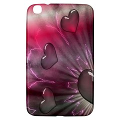 Love Hearth Background Wallpaper Samsung Galaxy Tab 3 (8 ) T3100 Hardshell Case
