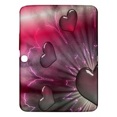 Love Hearth Background Wallpaper Samsung Galaxy Tab 3 (10 1 ) P5200 Hardshell Case