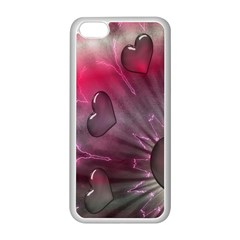 Love Hearth Background Wallpaper Apple Iphone 5c Seamless Case (white)