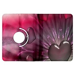 Love Hearth Background Wallpaper Kindle Fire HDX Flip 360 Case
