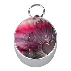 Love Hearth Background Wallpaper Mini Silver Compasses