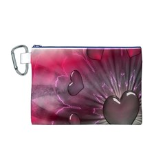 Love Hearth Background Wallpaper Canvas Cosmetic Bag (M)