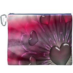 Love Hearth Background Wallpaper Canvas Cosmetic Bag (XXXL)
