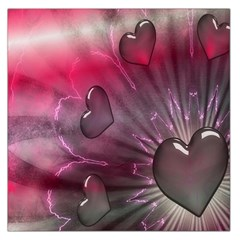 Love Hearth Background Wallpaper Large Satin Scarf (Square)