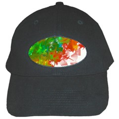 Digitally Painted Messy Paint Background Textur Black Cap