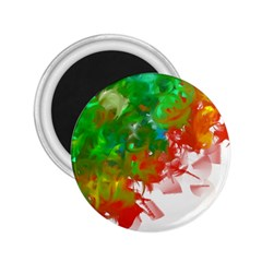Digitally Painted Messy Paint Background Textur 2.25  Magnets