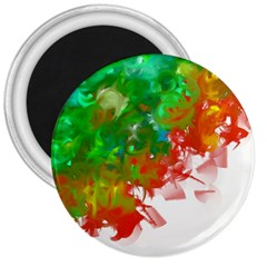 Digitally Painted Messy Paint Background Textur 3  Magnets