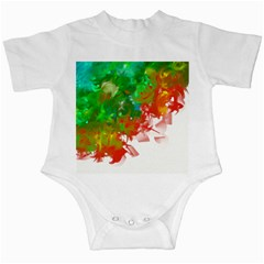 Digitally Painted Messy Paint Background Textur Infant Creepers