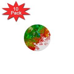 Digitally Painted Messy Paint Background Textur 1  Mini Buttons (10 pack)