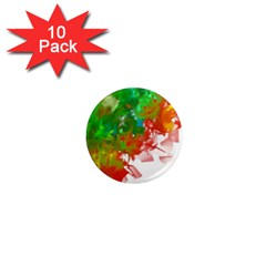 Digitally Painted Messy Paint Background Textur 1  Mini Magnet (10 pack)