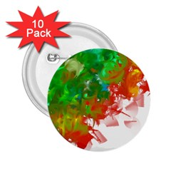 Digitally Painted Messy Paint Background Textur 2 25  Buttons (10 Pack)