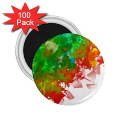 Digitally Painted Messy Paint Background Textur 2 25  Magnets (100 Pack)