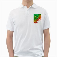 Digitally Painted Messy Paint Background Textur Golf Shirts
