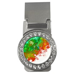 Digitally Painted Messy Paint Background Textur Money Clips (CZ)