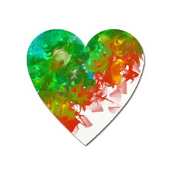 Digitally Painted Messy Paint Background Textur Heart Magnet