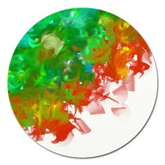 Digitally Painted Messy Paint Background Textur Magnet 5  (round)