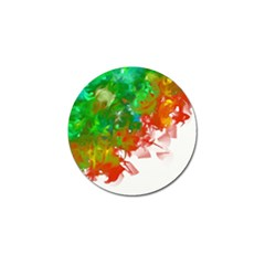 Digitally Painted Messy Paint Background Textur Golf Ball Marker (4 pack)