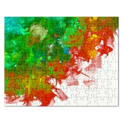 Digitally Painted Messy Paint Background Textur Rectangular Jigsaw Puzzl