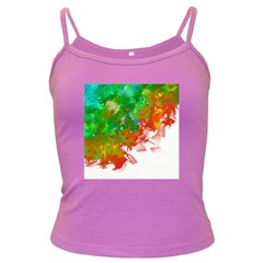 Digitally Painted Messy Paint Background Textur Dark Spaghetti Tank