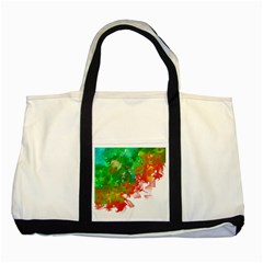 Digitally Painted Messy Paint Background Textur Two Tone Tote Bag