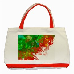 Digitally Painted Messy Paint Background Textur Classic Tote Bag (red)