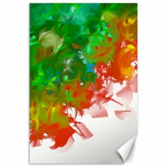 Digitally Painted Messy Paint Background Textur Canvas 24  x 36