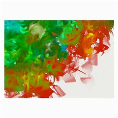 Digitally Painted Messy Paint Background Textur Large Glasses Cloth (2-Side)