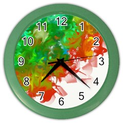 Digitally Painted Messy Paint Background Textur Color Wall Clocks