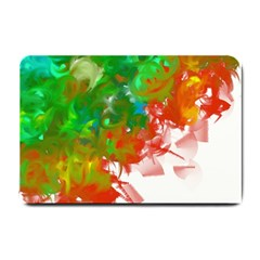 Digitally Painted Messy Paint Background Textur Small Doormat