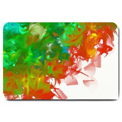 Digitally Painted Messy Paint Background Textur Large Doormat