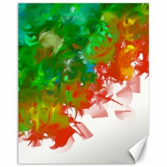 Digitally Painted Messy Paint Background Textur Canvas 11  x 14