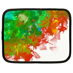 Digitally Painted Messy Paint Background Textur Netbook Case (Large)